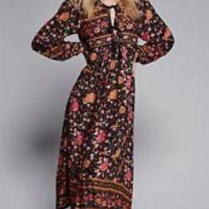 New Spell Folktown Wintergarden Midii Dress XS